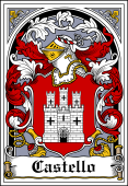 Spanish Coat of Arms Bookplate for Castello