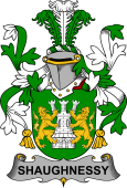 Irish Coat of Arms for Shaughnessy or O'Shaughnessy