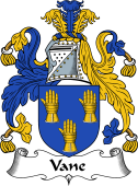 English Coat of Arms for Vane or Fane