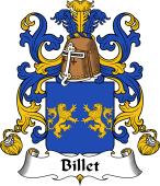 Coat of Arms from France for Billet