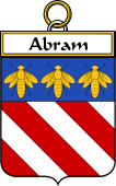 French Coat of Arms Badge for Abram