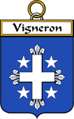 French Coat of Arms Badge for Vigneron