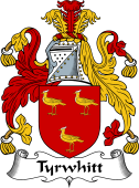 English Coat of Arms for Tyrwhitt