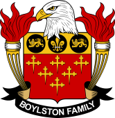 American Coat of Arms for Boylston