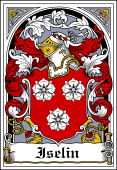 Danish Coat of Arms Bookplate for Iselin
