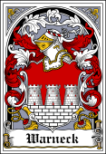 German Wappen Coat of Arms Bookplate for Warneck