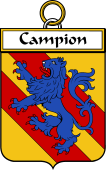 French Coat of Arms Badge for Campion