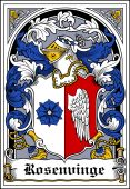 Danish Coat of Arms Bookplate for Rosenvinge