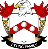 American Coat of Arms for Etting