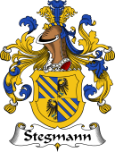 German Wappen Coat of Arms for Stegmann
