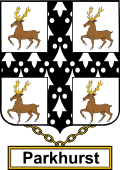 English Coat of Arms Shield Badge for Parkhurst