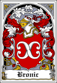 Polish Coat of Arms Bookplate for Bronic