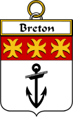 French Coat of Arms Badge for Breton