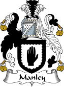 English Coat of Arms for Manley or Mandley