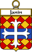 French Coat of Arms Badge for Janin