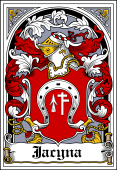 Polish Coat of Arms Bookplate for Jacyna