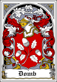 Polish Coat of Arms Bookplate for Domb