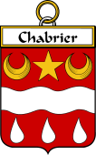French Coat of Arms Badge for Chabrier