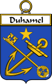 French Coat of Arms Badge for Duhamel