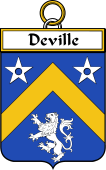 French Coat of Arms Badge for Deville