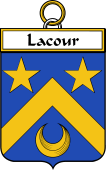 French Coat of Arms Badge for Lacour