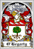 Irish Coat of Arms Bookplate for O'Hegarty