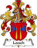 German Wappen Coat of Arms for Loesch