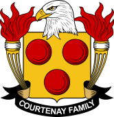 American Coat of Arms for Courtenay