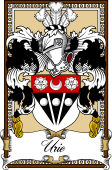 Scottish Coat of Arms Bookplate for Urie