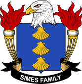 American Coat of Arms for Simes