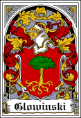 Polish Coat of Arms Bookplate for Glowinski