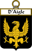 French Coat of Arms Badge for d'Aigle