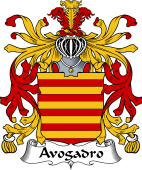 Italian Coat of Arms for Avogadro