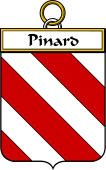 French Coat of Arms Badge for Pinard