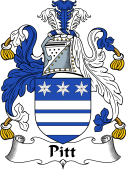 Irish Coat of Arms for Pitt